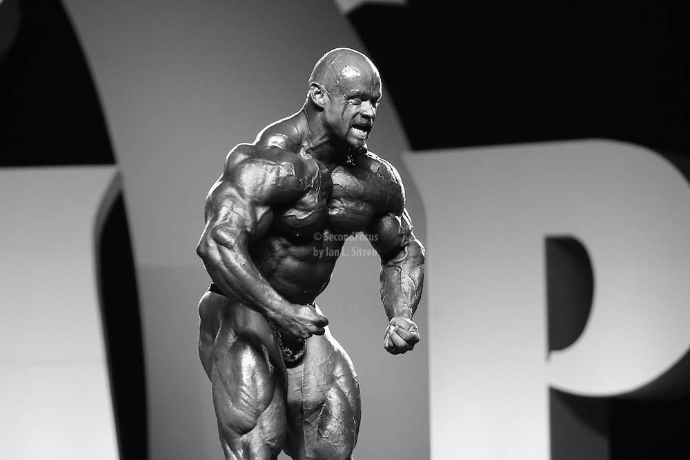 Branch Warren competing at the 2010 Mr. Olympia finals in Las Vegas.