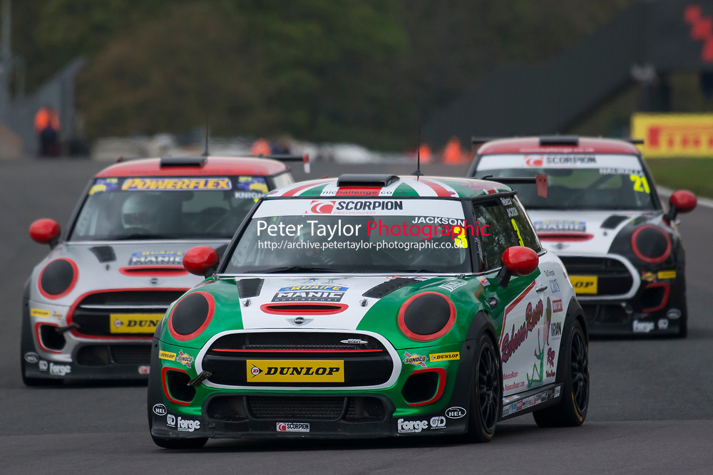 #3 Rebecca JACKSON MINI JCW  during MINI Challenge - JCW  as part of the BRDC British F3/GT Championship Meeting at Oulton Park, Little Budworth, Cheshire, United Kingdom. April 17 2017. World Copyright Peter Taylor/PSP.