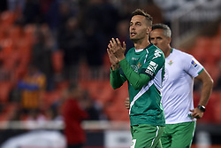 February 28, 2019 - Valencia, Valencia, Spain - Sergio Canales of Betis during the Copa del Rey Semi Final match second leg between Valencia CF and Real Betis Balompie at Mestalla Stadium in Valencia, Spain on February 28, 2019. (Credit Image: © Jose Breton/NurPhoto via ZUMA Press)