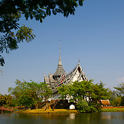 A Thai temple at Muang Borang in Samut Prakarn, Thailand.