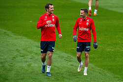 October 12, 2018 - Oslo, NORWAY - 181012 Even Hovland and Martin Linnes of Norway during a training session on October 12, 2018 in Oslo..Photo: Jon Olav Nesvold / BILDBYRN / kod JE / 160327 (Credit Image: © Jon Olav Nesvold/Bildbyran via ZUMA Press)