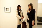 ANNABEL NEILSON; DAVINA DE FOREST CORNISH, Larry Clark opening. Simon Lee Gallery. London. 9 February 2011. -DO NOT ARCHIVE-© Copyright Photograph by Dafydd Jones. 248 Clapham Rd. London SW9 0PZ. Tel 0207 820 0771. www.dafjones.com.