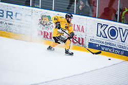 Gian luca March during Alps Hockey League match between HC Pustertal and HDD SIJ Jesenice, on April 3, 2019 in Ice Arena Podmezakla, Jesenice, Slovenia. Photo by Peter Podobnik / Sportida