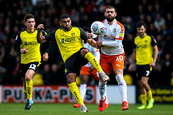 Colin Daniel of Burton Albion challenges Elliot Lee of Luton Town - Mandatory by-line: Robbie Stephenson/JMP - 27/04/2019 - FOOTBALL - Pirelli Stadium - Burton upon Trent, England - Burton Albion v Luton Town - Sky Bet League One