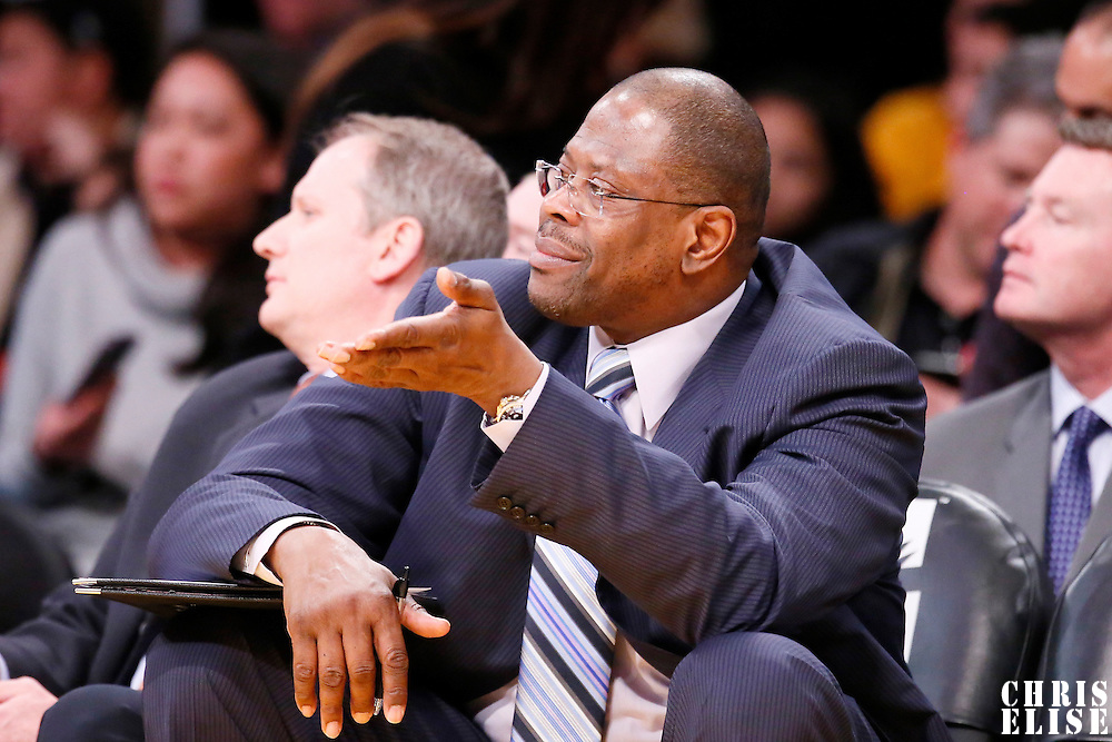 31 January 2014: Charlotte Bobcats Assistant Coach Patrick Ewing is seen during the Charlotte Bobcats 110-100 victory over the Los Angeles Lakers at the Staples Center, Los Angeles, California, USA.