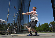 May24, 2018; Sacramento, CA, USA; Brock Eager of Washington State places third in the hammer at 225-2 (68.64m)  during the NCAA West Preliminary at Hornet Stadium.