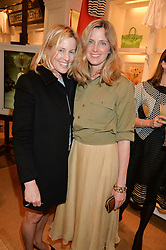 Left to right, SYDNEY FINCH and AMANDA BROOKS at a party to celebrate the publication of India Hicks: Island Style hosted by Princess Marie-Chantal of Greece, Saffron Aldridge and Amanda Brooks has held at Ralph Lauren, 105-109 Fulham Road, London on 28th April 2015,