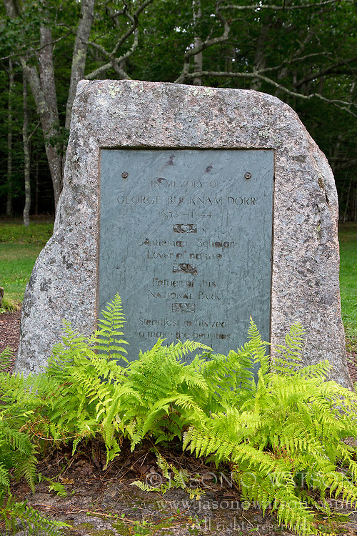 Monument in honor of George Bucknam Dorr, Acadia National Park, Maine, United States of America