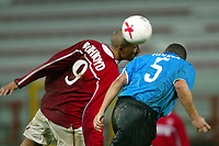 Perugia 26/2/2004 Uefa Cup Third round 1st leg <br />Perugia Psv Ehindoven 0-0 <br />A challenge between  Wilfred Bouma (Psv) and Jay Bothroyd (Perugia)<br />Foto Andrea Staccioli Graffiti