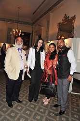 Left to right, HH THE MAHARANA OF UDAIPUR, PRINCESS AAKANKSHA SINGH, PRINCESS PADMAJA KUMARI MEWAR OF UDAIPUR and PRINCE LAKSHYARAJ SINGH MEWAR OF UDAIPUR at a private view of The Secret Garden and A Little Princess an exhibition of original watercolours by Graham Rust held at St.Wilfrid's Hall, The Brompton Oratory, London on 2nd October 2012.