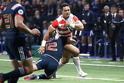 November 25, 2017 - Paris, France - Sione Teaupa in action during the International test match between France and Japan at U Arena. (Credit Image: © Nicolas Briquet/SOPA via ZUMA Wire)