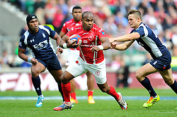 Pte Jack Prasad of the Army in possession  - Photo mandatory by-line: Patrick Khachfe/JMP - Mobile: 07966 386802 09/05/2015 - SPORT - RUGBY UNION - London - Twickenham Stadium - Army v Royal Navy - Babcock Trophy