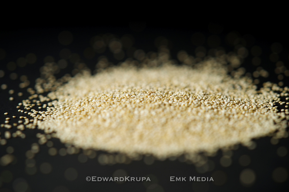 Quinoa seeds, shallow focus.