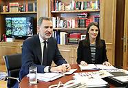 043020 Spanish Royals working at Zarzuela Palace