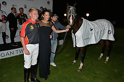 Presentation of prizes at the Chovgan Twilight Polo Gala in association with the PNN Group held at Ham Polo Club, Petersham Close, Richmond, Surrey on 10th September 2014.