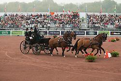 Misdee Wrigley Miller, (USA), Agusstos Armoei, Beau, Carlos, Clemens, Saco - Driving Cones - Alltech FEI World Equestrian Games™ 2014 - Normandy, France.<br /> © Hippo Foto Team - Dirk Caremans<br /> 07/09/14