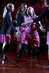 NORMAL, IL - February 10: Viria Livingston during a college women's basketball Play4Kay game between the ISU Redbirds and the Indiana State Sycamores on February 10 2019 at Redbird Arena in Normal, IL. (Photo by Alan Look)
