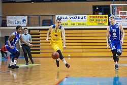 Clark Ceola and Parker Jacob Samuel of KK Tajfun Sencur and Span Jan of KK Sencur GGD during basketball match between KK Sencur  GGD and KK Tajfun Sentjur for Spar cup 2016, on 16th of February , 2016 in Sencur, Sencur Sports hall, Slovenia. Photo by Grega Valancic / Sportida.com