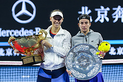 October 8, 2018 - Beijing, Beijing, China - Beijing, CHINA-Professional tennis player Caroline Wozniacki defeats Anastasija Sevastova 2-0 and wins a gold medal at 2018 China Open, October 7th, 2018. (Credit Image: © SIPA Asia via ZUMA Wire)