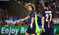 David LUIZ / Javier PASTORE - 15.04.2015 - Paris Saint Germain / Barcelone - 1/4Finale Aller Champions League<br />