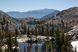 """Heather Lake 1"" - Photograph of Heather Lake along the Pacific Crest Trail in the Tahoe Desolation Wilderness."