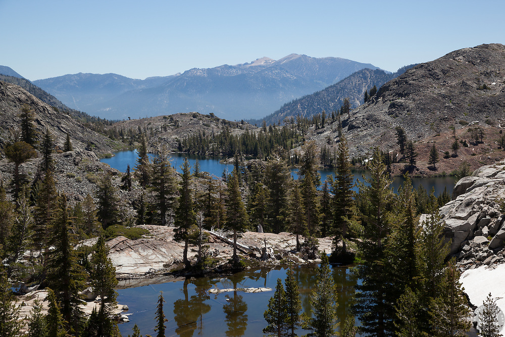 """""""Heather Lake 1"""" - Photograph of Heather Lake along the Pacific Crest Trail in the Tahoe Desolation Wilderness."""