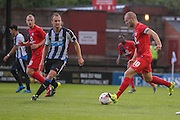 Siem De Jong & Russell Penn during the Pre-Season Friendly match between York City and Newcastle United at Bootham Crescent, York, England on 29 July 2015. Photo by Simon Davies.