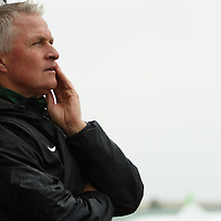 Bob Maltman (7th Season), Head Coach of the Regina Cougars women's soccer team during the Women's Soccer road trip to Saskatoon on October 9 at Griffiths Stadium. Credit: Arthur Ward/Arthur Images