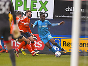 Barnet player David Tutonda looks to cross the ball into the box in the first half during the EFL Sky Bet League 2 match between Luton Town and Barnet at Kenilworth Road, Luton, England on 24 March 2018. Picture by Ian  Muir.