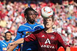 07.05.2011, easy Credit Stadion, Nuernberg, GER, 1.FBL, 1. FC Nuernberg / Nürnberg vs TSG 1899 Hoffenheim, im Bild Isaac Vorsah (Hoffenheim #25) gg Philipp Wollscheid (Nuernberg #38).EXPA Pictures © 2011, PhotoCredit: EXPA/ nph/  Will       ****** out of GER / SWE / CRO  / BEL ******