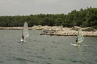 windsurfing.. Krk Island, Croatia..