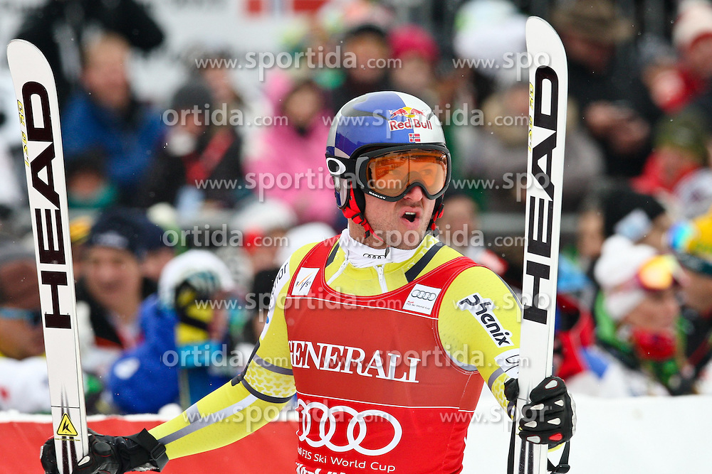 25.01.2013, Streif, Kitzbuehel, AUT, FIS Weltcup Ski Alpin, Abfahrt, Herren, Super G, im Bild Aksel Lund Svindal (NOR) // Aksel Lund Svindal of Norway // during mens SuperG ..of the FIS Ski Alpine World Cup at the Streif course, Kitzbuehel, Austria on 2013/01/25. EXPA Pictures © 2013, PhotoCredit: EXPA/ Markus Casna