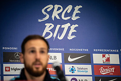 Jan Oblak during press conference before Euro 2019 qualification football match between national team Slovenia and Latvia in Stadion Stozice, Ljubljana on 15th November, 2019, Slovenia. Photo by Grega Valancic / Sportida