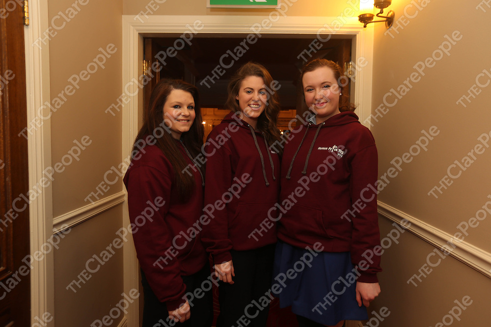 Katie Burke, Jaana Newman and Aisling Cregan pictured at the Prostitution Conference in the TempleGate, Ennis on Friday night.<br /> Pic. Brian Arthur/ Press 22.