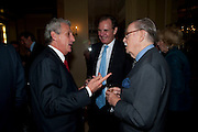 ROBERT LACEY; JONATHAN AITKEN; SIR ALAN WHICKER, Book launch of Lady Annabel Goldsmith's third book, No Invitation Required. Claridges's. London. 11 November 2009