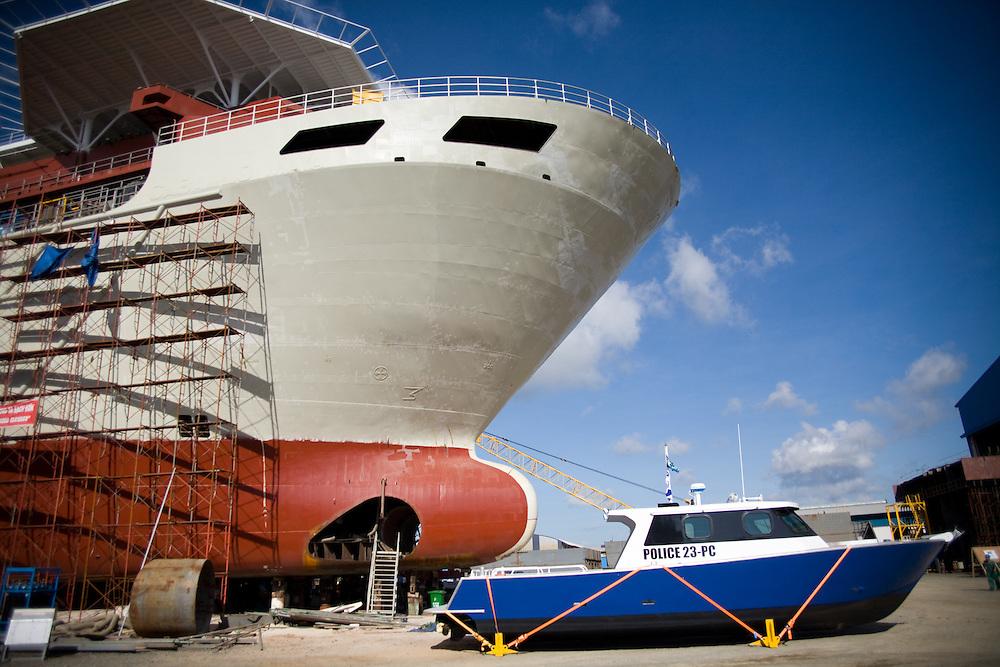 Big ships being build in Vung Tau, Vietnam