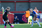 Erin Cuthbert (Chelsea) & Kate Natkiel (Brighton) during the FA Women's Super League match between Brighton and Hove Albion Women and Chelsea at The People's Pension Stadium, Crawley, England on 15 September 2019.