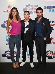 © London News Pictures. Lisa Snowdon, Nick Jonas & Dave Berry, Capital FM Summertime Ball, Wembley Stadium, London UK, 06 June 2015, Photo by Brett D. Cove /LNP