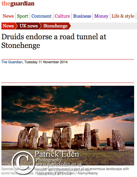 Stonehenge, Wiltshire, The Guardian, © Patrick Eden