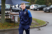 AFC Wimbledon midfielder Max Sanders (23) arriving for the game during the EFL Sky Bet League 1 match between AFC Wimbledon and Gillingham at the Cherry Red Records Stadium, Kingston, England on 23 November 2019.