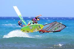 26.07.2015, Costa Calma, Fuerteventura, ESP, PWA Windsurfing Freestyle Grand Slam, im Bild <br />Pinocheau Romain F-08 // during the PWA Windsurfing Freestyle Grand Slam at the Costa Calma in Fuerteventura, Spain on 2015/07/26. EXPA Pictures © 2015, PhotoCredit: EXPA/ Eibner-Pressefoto/ Roskaritz<br /> <br /> *****ATTENTION - OUT of GER*****