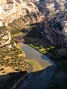 Morning at the Wagon Wheel  Overlook along the Yampa River, Dinosaur National Monument, Colorado, USA.