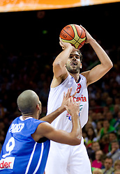 Jose Calderon of Spain during final basketball game between National basketball teams of Spain and France at FIBA Europe Eurobasket Lithuania 2011, on September 18, 2011, in Arena Zalgirio, Kaunas, Lithuania. (Photo by Vid Ponikvar / Sportida)