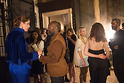 VANESSA ARELLE; THEASTER GATES, Okwui Enwezor and Vinyl Facorty hosted party at Ca'Sagredo, Campo Santa Sofia Venice Biennale, Venice. 5 May 2015