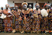 Local people at cultural festival in Bamenda, Cameroon, West Africa