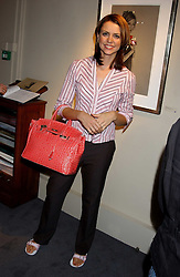 TV presenter BEVERLEY TURNER she is married to Olympic rower James Cracknell at a private view of fashion designer Lindka Cierach's Couture Dresses drawn by Trudy Good held at the Belgravia Gallery, 45 Albemarle Street, London on 21st September 2005.<br /><br />NON EXCLUSIVE - WORLD RIGHTS