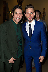 SANTA ANA, CA - OCT 10:  TV actor, singer and model Gabriel Coronel with former RBD Christian Chavez during ParaTodos Magazine 20th Anniversary Gala at the Bower Museum on 10th of October, 2015 in Santa Ana, California. Byline, credit, TV usage, web usage or linkback must read SILVEXPHOTO.COM. Failure to byline correctly will incur double the agreed fee. Tel: +1 714 504 6870.