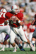COLLEGE FOOTBALL: Stanford v UW, Oct 20, 1990 at Stanford Stadium in Palo Alto, California. John Lynch #17.  Photograph by David Madison (www.davidmadison.com)