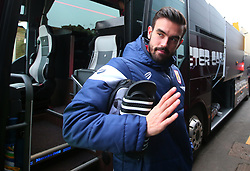 Marlon Pack of Bristol City arrives at Vicarage Road for the FA Cup tie against Watford - Mandatory by-line: Robbie Stephenson/JMP - 06/01/2018 - FOOTBALL - Vicarage Road - Watford, England - Watford v Bristol City - Emirates FA Cup third round proper