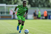 Forest Green Rovers Udoka Godwin-Malife(22) runs forward during the EFL Sky Bet League 2 match between Forest Green Rovers and Grimsby Town FC at the New Lawn, Forest Green, United Kingdom on 17 August 2019.